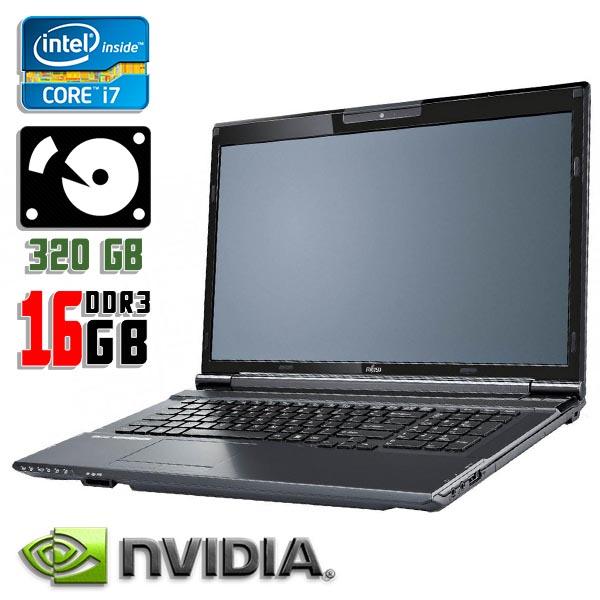 Игровой ноутбук б/у 17.3″ Fujitsu Lifebook NH532 - Core i7 3630M / GeForce GT 640M / 16Gb ОЗУ DDR3 / 320Gb HDD