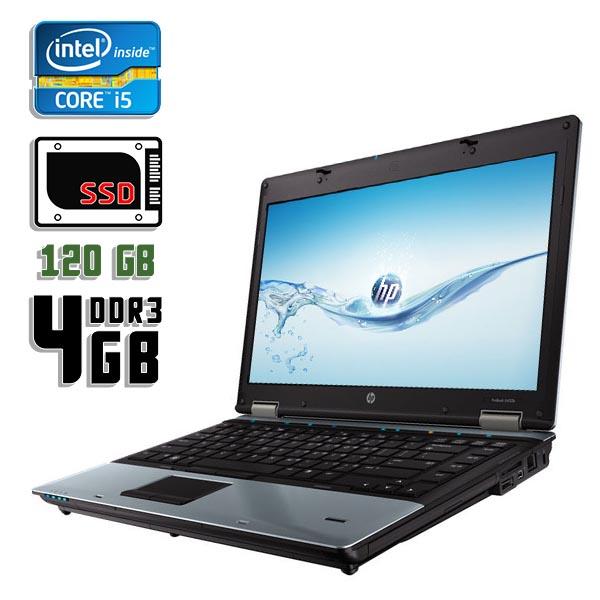 Ноутбук б/у 14,1″ HP ProBook 6450b / Core i5 450M / 4Gb ОЗУ DDR3 / SSD 120Gb / камера