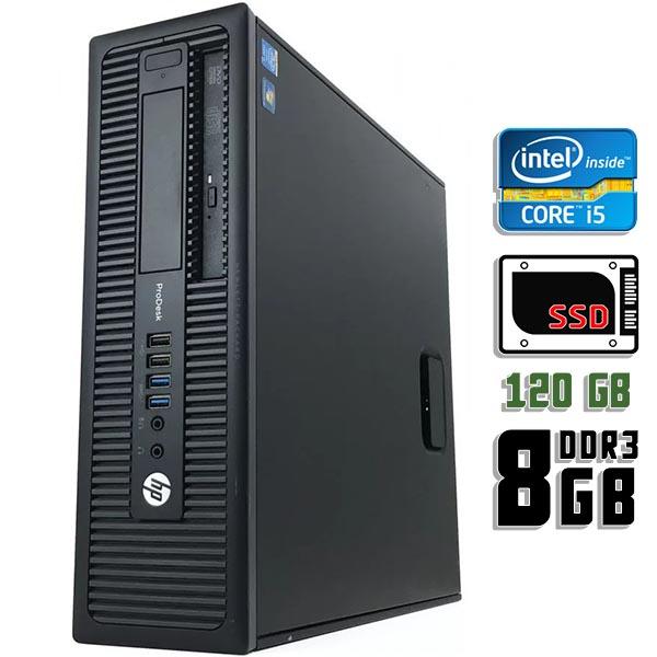 Компьютер б/у HP HP ProDesk 600 G1 SFF / Core i5 4Gen / 8Gb ОЗУ DDR3 / SSD 120Gb