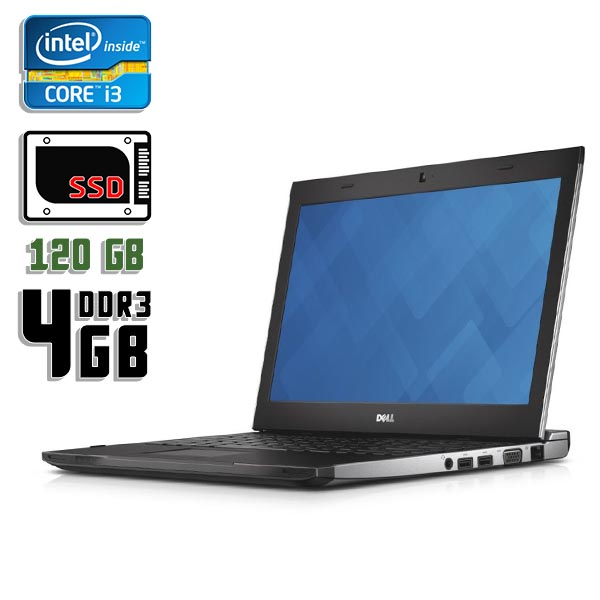 Ноутбук б/у 13,3″ Dell 3330 - Core i3 3210M / 4Gb ОЗУ DDR3 / 120Gb SSD / камера