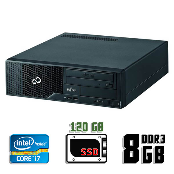 Компьютер б/у Fujitsu Esprimo E510 SFF / Core i7 2600 / 8Gb ОЗУ DDR3 / 120Gb SSD