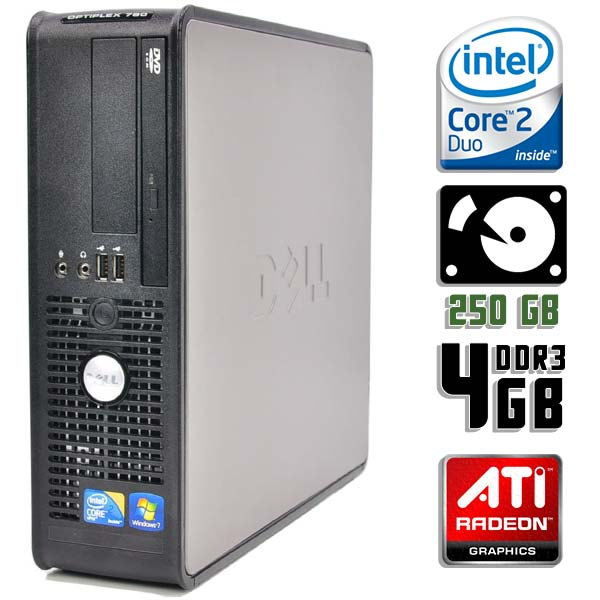 Игровой компьютер б/у DELL 380SFF slim / 2-ядерный / Radeon HD / 4Gb ОЗУ DDR3 / 250Gb HDD