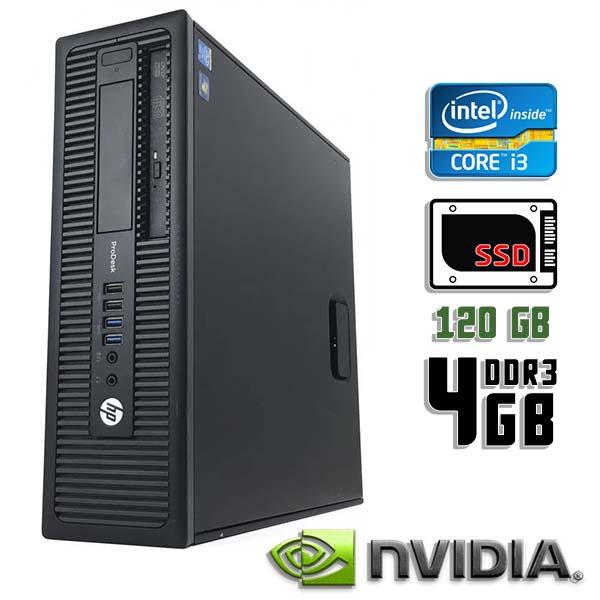 Игровой компьютер б/у HP ProDesk 600 G1 SFF - Core i3 4160 / GT 710 / 4Gb ОЗУ DDR3 / 120Gb SDD