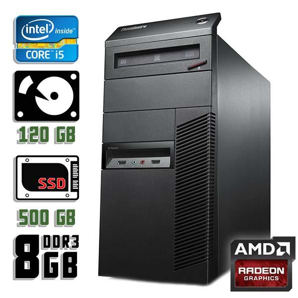 Игровой компьютер б/у Lenovo ThinkCentre M92p - Core i5 3550 / Radeon RX 470 / 8Gb ОЗУ DDR3 / SDD+HDD