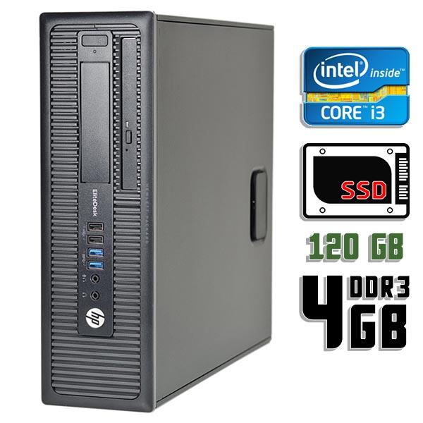 Компьютер б/у HP EliteDesk 800 G1 SFF / Core i3 4130 / 4Gb ОЗУ DDR3 / 120Gb SSD