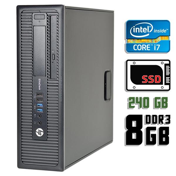 Компьютер б/у HP EliteDesk 800 G1 SFF / Core i7 4770K / 8Gb ОЗУ DDR3 / 240Gb SSD