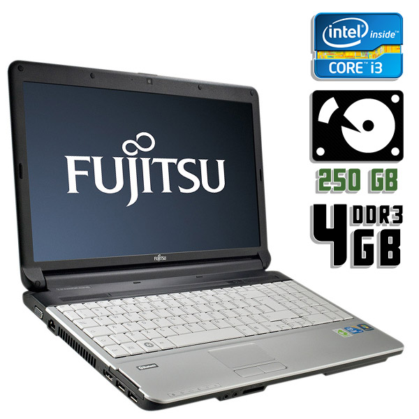 Ноутбук б/у 15,6″ Fujitsu Lifebook A530 - Core i3 1Gen / 4Gb ОЗУ DDR3 / HDD 250Gb / камера
