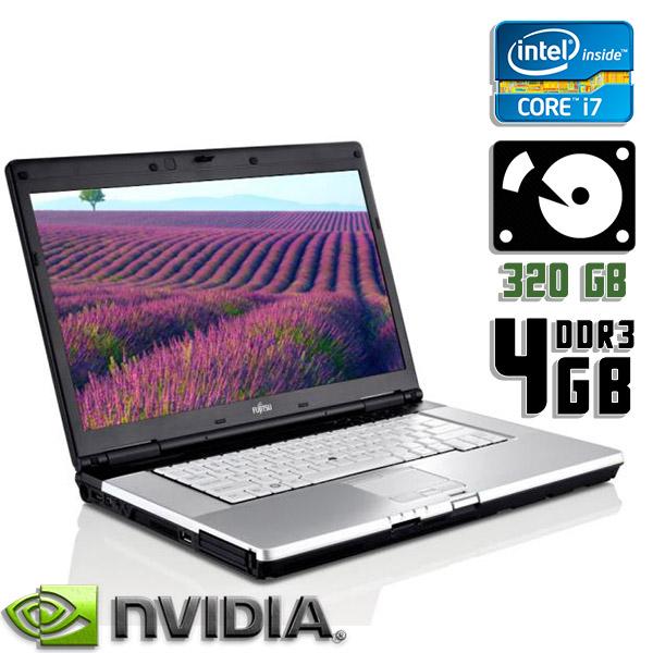 Ноутбук б/у 15,6″ Fujitsu Lifebook E780 - Core i7 1Gen / 4Gb ОЗУ DDR3 / HDD 320Gb / камера