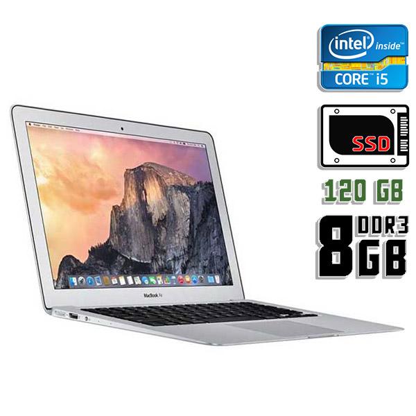 Ноутбук б/у 13,3″ Apple MacBook Air A1466 - Core i5 5Gen / 8Gb ОЗУ DDR3 / SSD 120Gb / камера