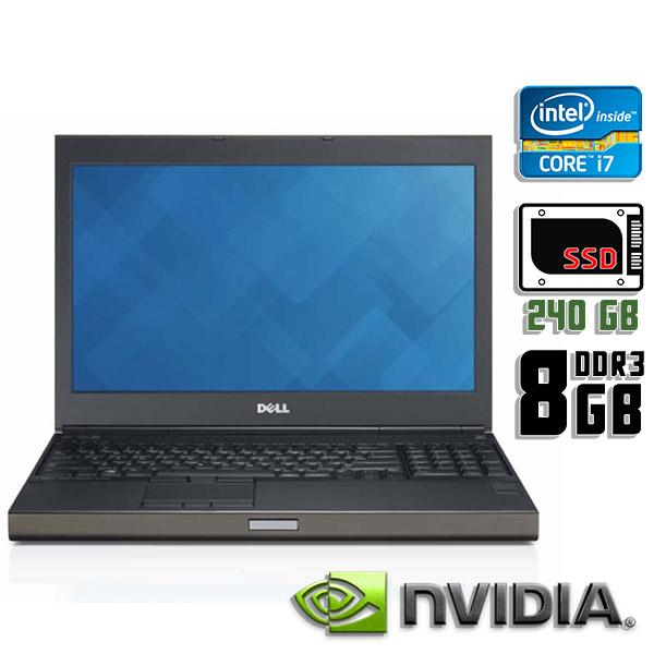 Игровой ноутбук б/у 15,6″ Dell Precision M4600 - Core i7 2Gen / Quadro 2000M / 8Gb ОЗУ DDR3 / SSD 240Gb