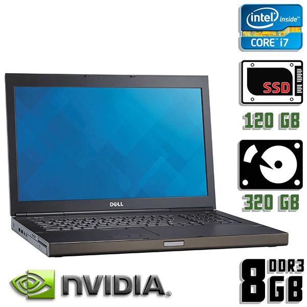 Игровой ноутбук б/у 17,3″ Dell Precision M6800 - Core i7 4Gen / Quadro 3100M / 8Gb ОЗУ DDR3 / SSD+HDD