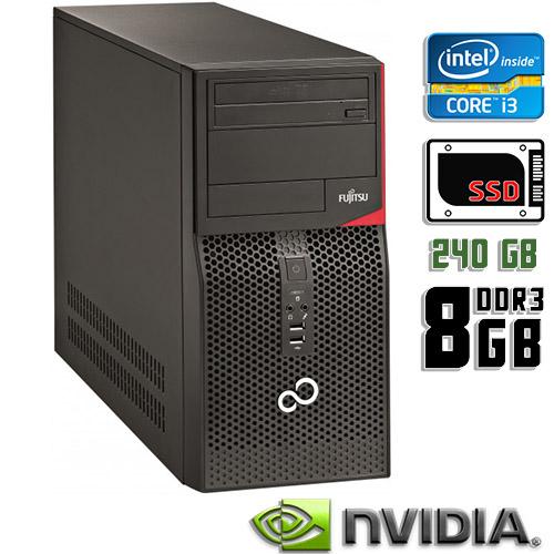 Игровой компьютер б/у Fujitsu Esprimo P420 E85 - Core i3 4Gen / GeForce GTX 750 Ti / 8Gb ОЗУ DDR3 / SDD 240Gb