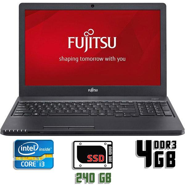 Ноутбук б/у 15,6″ Fujitsu Lifebook A555 - Core i3 5Gen / 4Gb ОЗУ DDR3 / SSD 240Gb / камера
