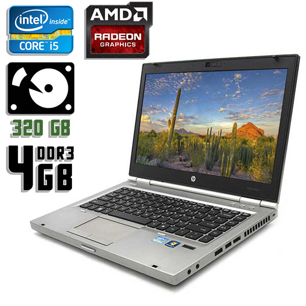 Ноутбук б/у 14″ HP EliteBook 8460p - Core i5 2Gen / 4Gb ОЗУ DDR3 / HDD 320Gb / Radeon HD 6470M