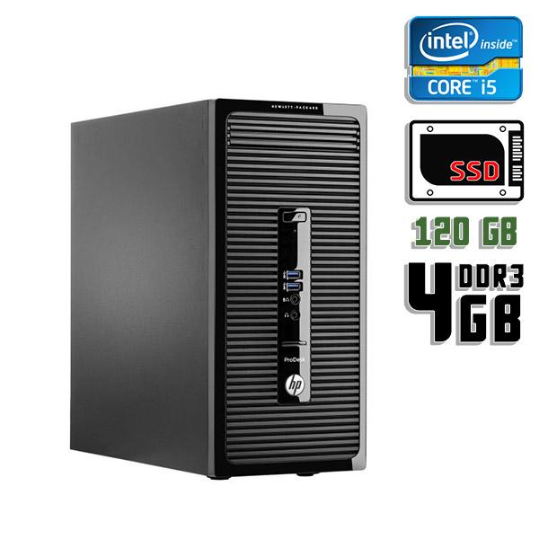 Компьютер б/у HP ProDesk 490 G2 / Core i5 4Gen / 4Gb ОЗУ DDR3 / SSD 120Gb