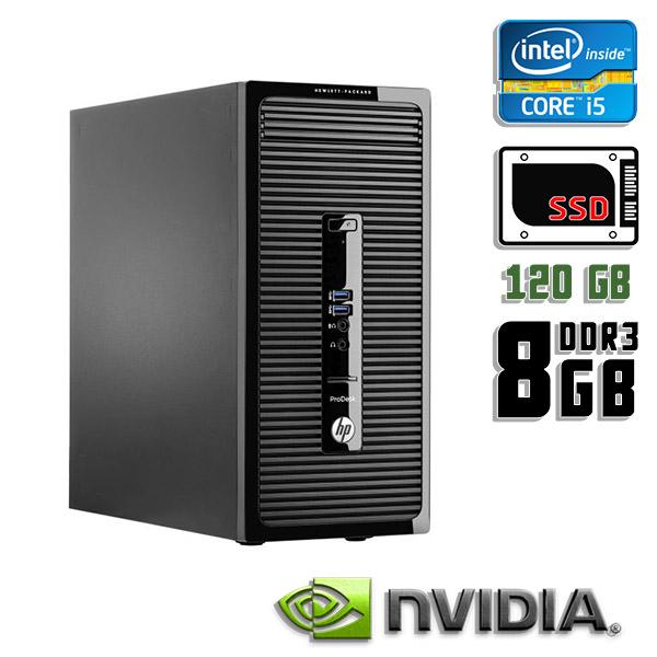Игровой компьютер б/у HP ProDesk 490 G2 / Core i5 4Gen / GTX 1060 / 8Gb ОЗУ DDR3 / SDD 120Gb