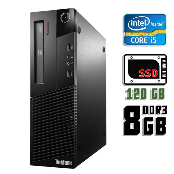 Компьютер б/у Lenovo ThinkCentre M73 SFF / Core i5 4Gen / 8Gb ОЗУ DDR3 / SSD 120Gb