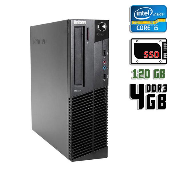 Компьютер б/у Lenovo ThinkCentre M93P SFF / Core i5 4Gen / 4Gb ОЗУ DDR3 / SSD 120Gb